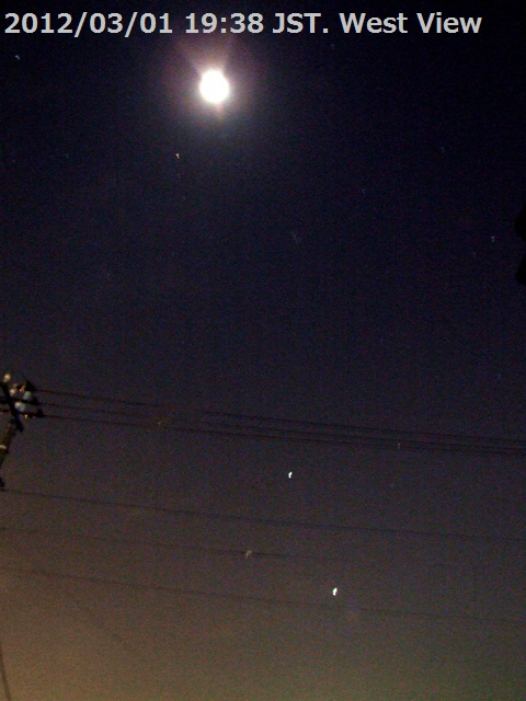 2012/3/1日没後 月と金星・木星