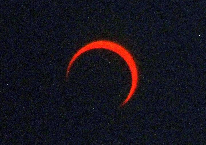 金環日食2012年5月21日7:38