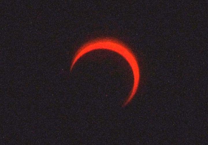 金環日食2012年5月21日7:39