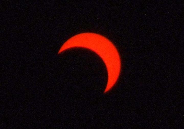 金環日食2012年5月21日7:54